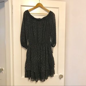 Shoshana Black Off Shoulder Dress Size 10